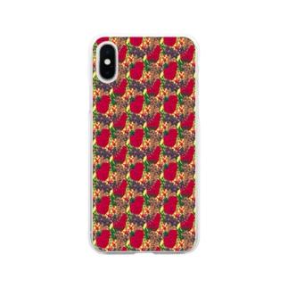 花柄 Soft clear smartphone cases