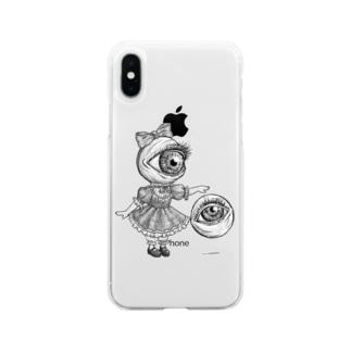 目玉少女 Soft clear smartphone cases