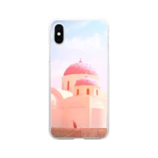 サントリーーニ Soft clear smartphone cases