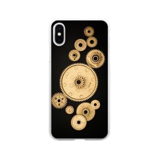 ギア Soft clear smartphone cases