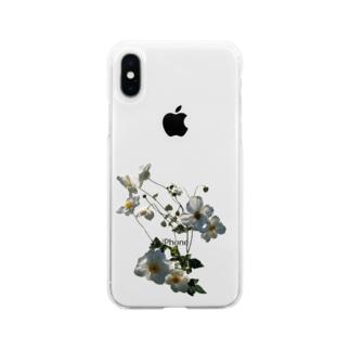 秋明菊咲いた! Soft clear smartphone cases