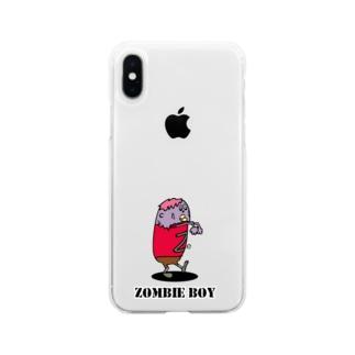 ゾンビ少年 Soft clear smartphone cases