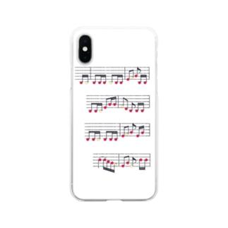 りんごの楽譜 Soft clear smartphone cases