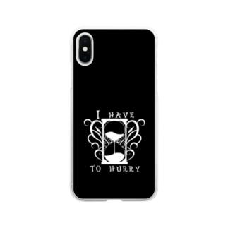 隠さなきゃ モノクロ2 Soft clear smartphone cases