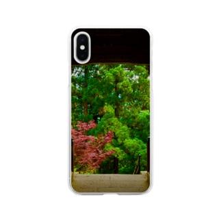 木々と門 Soft clear smartphone cases