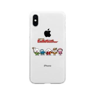 モッチッチレンジャー Soft clear smartphone cases