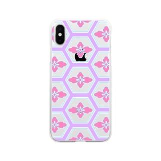 有職文様 Soft clear smartphone cases
