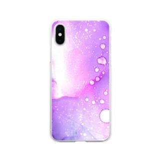 星々の生まれるところ Soft clear smartphone cases