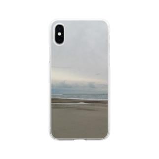 あの日の海 Soft clear smartphone cases