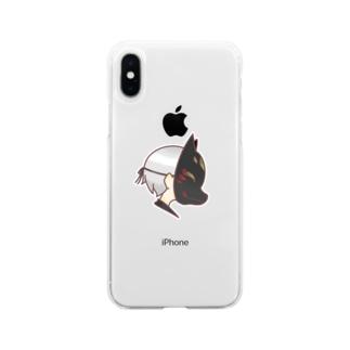狐面くん Soft clear smartphone cases