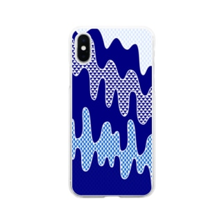 Sourambleの水流 Soft clear smartphone cases