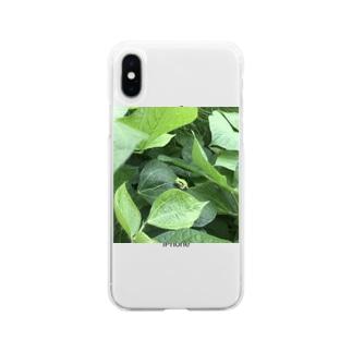 ひっそりカエル Soft clear smartphone cases