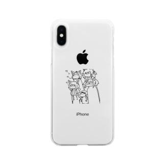ワンワンワンの日 Soft clear smartphone cases