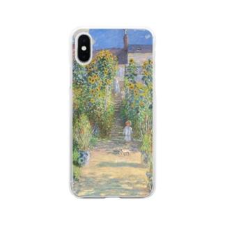 クロード・モネ / The Artist's Garden at Vétheuil / 1881 / Claude Monet Soft clear smartphone cases