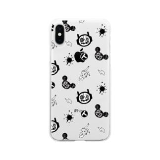 ラッチ&ガッシュ 総柄 Soft clear smartphone cases