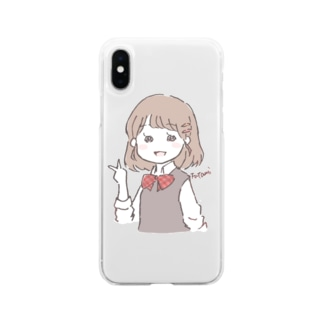 女子高生 Soft clear smartphone cases