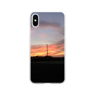 夕焼けぞら Soft clear smartphone cases