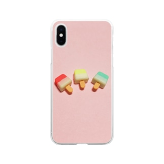 poniiのアイス Soft clear smartphone cases