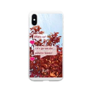 紅葉を見に行こうよう。 Soft clear smartphone cases