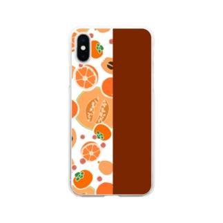 オレンジのフルーツ Soft clear smartphone cases