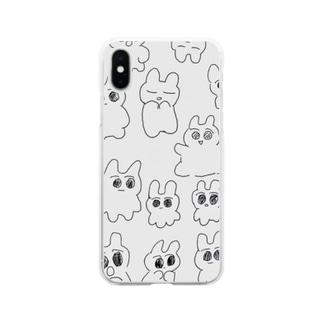 らくがきキョム Soft clear smartphone cases