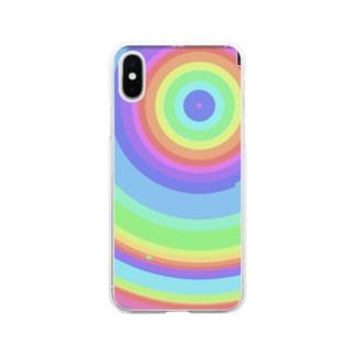 虹色 Soft clear smartphone cases