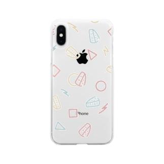 レトロがんづきくん Soft clear smartphone cases