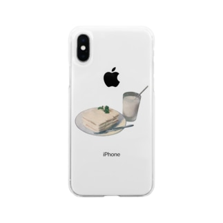 white lunch Soft clear smartphone cases