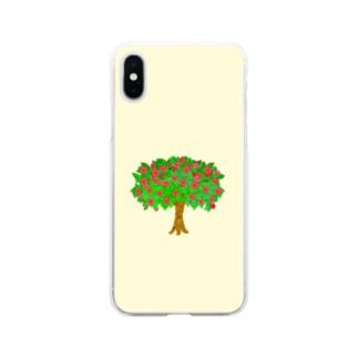 メルヘンなりんごの木 Soft clear smartphone cases