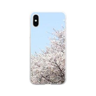 桜 Soft Clear Smartphone Case