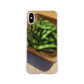 枝豆タイム Soft clear smartphone cases