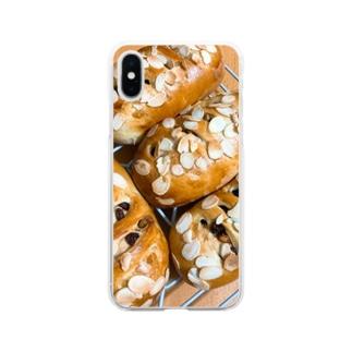 浮かれ黒糖くるみレーズンパン Soft clear smartphone cases