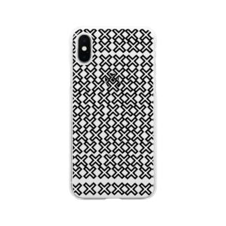 めっちゃバツ Soft clear smartphone cases