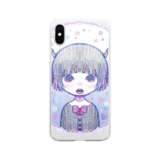 きらきら海岸 Soft clear smartphone cases