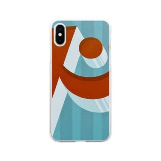 ビックリ顔の'ド' Soft clear smartphone cases