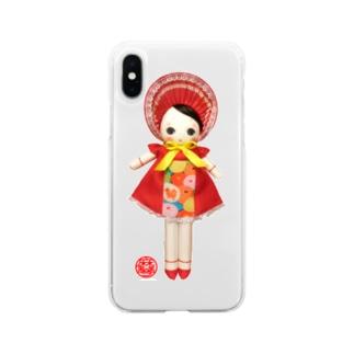 文化人形 宙ちゃん Soft clear smartphone cases