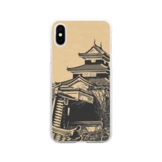 日本の城 小峰城 Soft clear smartphone cases