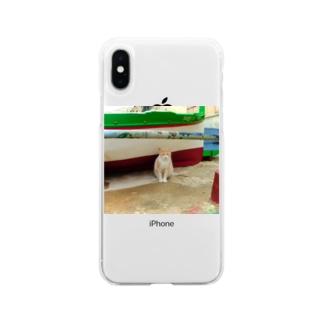 マルタ島の猫 Soft clear smartphone cases