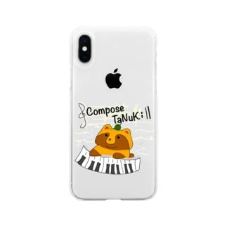 原知也、略してHaTo@作曲家のCompose TaNuKi Soft clear smartphone cases