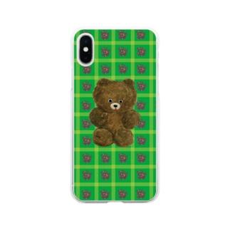 くまちゃん Soft clear smartphone cases