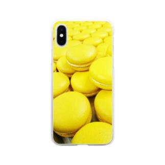 無限マカロン Soft clear smartphone cases