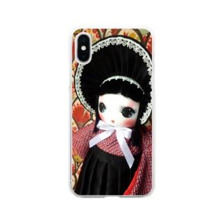 文化人形 カノ Soft clear smartphone cases