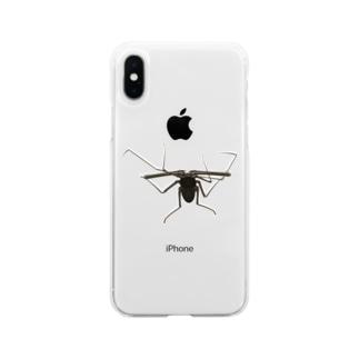 ウデムシ Soft clear smartphone cases