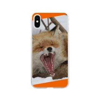 【にこらび】キタキツネ橙◇002 Soft clear smartphone cases