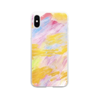 chiakiuedaのメリーゴーランドがある丘 Soft clear smartphone cases