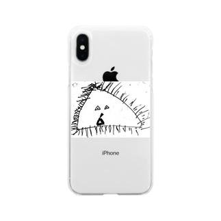 はるきのおじいさん Soft clear smartphone cases