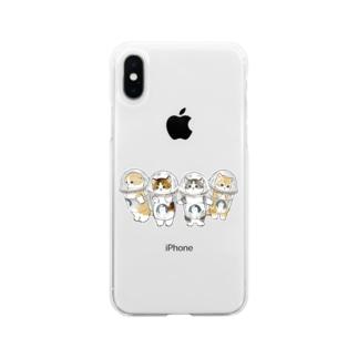 mofusandの防御力ZERO宇宙服 Soft clear smartphone cases