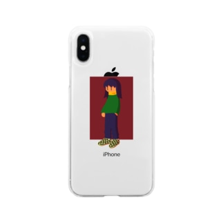 ツユクサチャン Soft clear smartphone cases