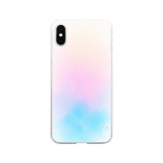 Winter 水彩 Soft clear smartphone cases