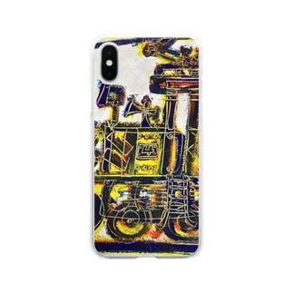 DB君No.002 ねずみ君のきかんしゃ Soft clear smartphone cases